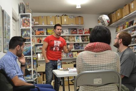 Foto de archivo de la CLASE MAGISTRAL DE TIRA CÓMICA en Tienda DTBOS